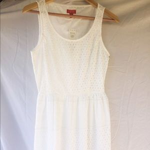 ELLE White Eyelet Tank Dress